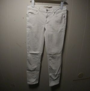 Vince Cropped White Denim Pants
